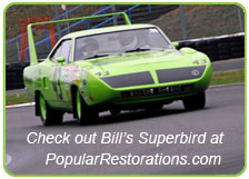 1970 Plymouth Superbird on the track